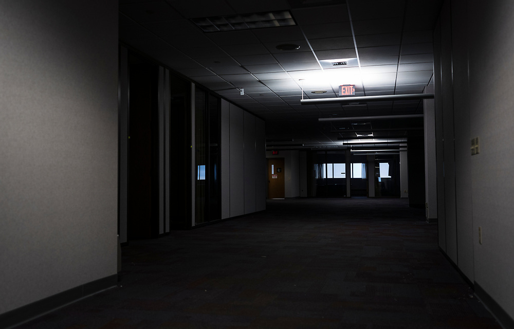 A view opposite the entrance to the AssuredLeads office on the 6th floor of the former Oscar Mayer headquarters building in Madison, WI on Friday, May 17, 2019.