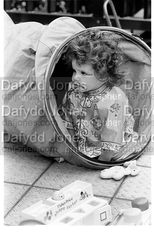 DAISY FRASER, <br /> Daisy fraser 2nd birthday party. ,. Petyt Place. London. 2 July 1987,<br /> <br /> SUPPLIED FOR ONE-TIME USE ONLY> DO NOT ARCHIVE. © Copyright Photograph by Dafydd Jones 248 Clapham Rd.  London SW90PZ Tel 020 7820 0771 www.dafjones.com