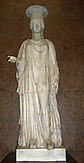 The Townley Caryatid.  In Greek and Roman architecture Caryatids are female figures that stand in place of columns.  This example was found around 1585-90, near the Via Appia, outside Rome.