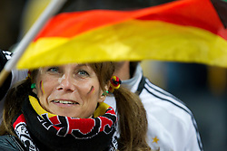 Fan of Germany prior to the 2010 FIFA World Cup South Africa Quarter Finals football match between Uruguay and Ghana on July 02, 2010 at Soccer City Stadium in Sowetto, suburb of Johannesburg. Uruguay defeated Ghana after penalty shots. (Photo by Vid Ponikvar / Sportida)