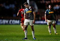 Harlequins' Tim Swiel looks dejected during the European Challenge Cup, pool five match at Twickenham Stoop, London.