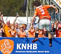 BLOEMENDAAL - Vreugde bij Wouter Jolie van Bloemendaal baEHL achtste finale tussen Bloemendaal en UHC Hamburg (2-1). COPYRIGHT KOEN SUYK