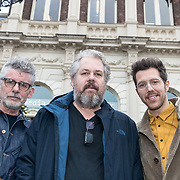 NLD/Amsterdam/20171218 - Musical Awards nominatielunch 2018, John Buijsman en William Spaaij en Thomas Acda