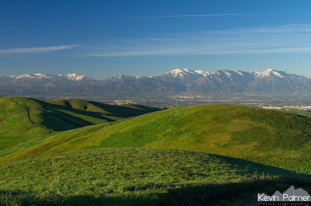 Southern California is never more beautiful than right after a winter storm. It left the air very clear with snow on the mountains and greened up the Chino Hills.<br /> <br /> Date Taken: February 24, 2015