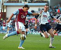 Photo: Ed Godden.<br />Aston Villa v Portsmouth. The Barclays Premiership. 04/03/2006. <br />Milan Baros enters the Portsmouth area.