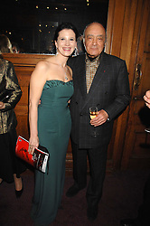 OLGA BALAKLEET and MOHAMED AL FAYED at a gala in aid of the Raisa Gorbachev Charitable Foundation in honour of the late Russian dancer Maris Liepa held at The London Coliseum, London on 24th February 2008.<br />