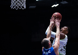 November 8, 2017 - Saint Petersburg, Russia - Marko Simonovic of Zenit St. Petersburg (L) and Kenny Kadji of Tofas Bursa vie for the ball during the EuroCup Round 5 regular season basketball match between Zenit St. Petersburg and Tofas Bursa at the Yubileyny Sports Palace in St. Petersburg, Russia, November 08, 2017. (Credit Image: © Igor Russak/NurPhoto via ZUMA Press)