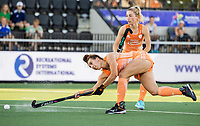 AMSTELVEEN - Frederique Matla (Ned) scoort  tijdens  dames wedstrijd , Nederland-Schotland (10-0),  bij het EK hockey. Euro Hockey 2021.   COPYRIGHT KOEN SUYK