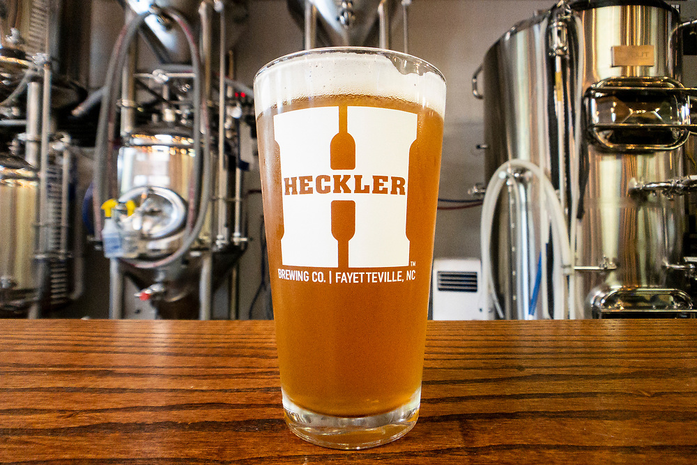Fresh craft beer at the Heckler Brewing Company in Fayetteville, North Carolina on Monday, August 16, 2021. Copyright 2021 Jason Barnette