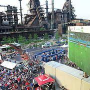 BETHLEHEM, PA - JUNE 16:  Atmosphere at SteelStacks while fans watch the World Cup in Brazil telecast on June 16, 2014 in Bethlehem, Pennsylvania. (Photo by Lisa Lake/Getty Images)