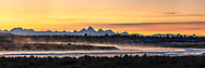 Henrys Fork Sunrise  Panorama. Just south of Last Chance the Henrys Fork of the Snake River winds towards the Grand Tetons in a most pleasant way. I love to shoot there, that moose likes to live there. <br /> <br /> This is a huge file and can be printed as large as twelve foot wide by four foot tall at over 150 DPI native resolution, a 1X3 ratio panorama. Contact me directly for custom prints.