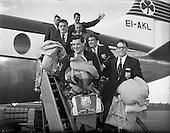 1959  - 01/10 Lion's Touring Team Return to Dublin Airport