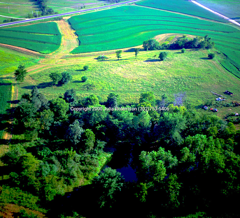 Aerial art abstract of a farm in Lancaster, PA<br /> showing geometry of lines in the earth.