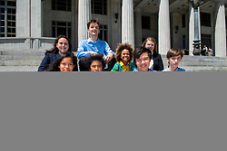 April 17, 2018 - Miami, FLORIDA, U.S - Youth plaintiffs and their attorneys hold a press briefing on the steps of the Miami-Dade Courthouse in Miami in conjunction with a lawsuit they filed against the state of Florida over climate change on April 16th. The youth are represented by attorneys in Florida and the case is lead by the Oregon based Our Children's Trust legal team. Our Children's Trust has filed similar cases in several states and are leading a historic case against the federal government. (Credit Image: © Robin Loznak via ZUMA Wire)