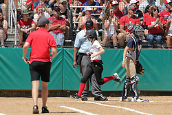 29 May 2017:  #14 Ottawa Marquette Crusaders v Heyworth Hornets at IWU in Bloomington Illinois for the IHSA Class 1A Softball Sectional Championship.