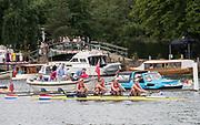 Henley-on-Thames. United Kingdom.  2017 Henley Royal Regatta, Henley Reach, River Thames. <br /> Women's Four. Hollandia Roeiclub. Bow Elsbeth Beeres 2. Karolien Florijn, 3. Ymke Clevering and  str.Veronique Meester<br /> <br /> 14:12:56  Friday  30/06/2017<br /> <br /> [Mandatory Credit. Intersport Images}.