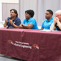 Engineering representatives from Honeywell and Sandia National Laboratories close out a soft skills event sponsored by NTU's Engineering Club with a question and answer session Wednesday, Nov. 13 in Crownpoint.