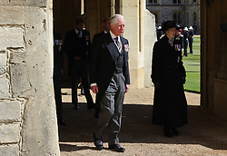 The Prince of Wales and the Princess Royal ahead of the funeral of the Duke of Edinburgh at Windsor Castle, Berkshire. Picture date: Saturday April 17, 2021.