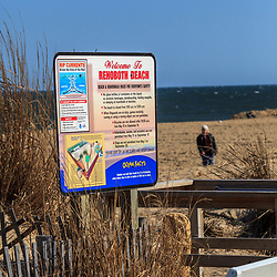 Rehoboth Beach, DE, USA - March 11, 2012: Welcom to Rehoboth Beach Sign at the oceanside
