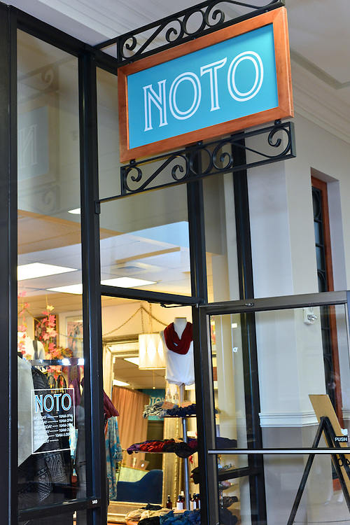 Entrance to NOTO Boutique.