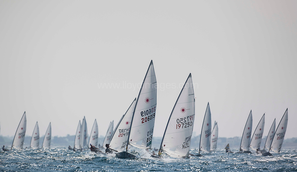 Laser World Championships 2013. Mussanah. Oman. Day 3 of racing, Credit: Lloyd Images
