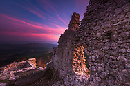 Byzantine fortress Ustra in Rhodope Mountains