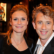 NLD/Amsterdam/20120123 - Premiere Black Out, zwangere Sophie Hilbrand en partner Waldemar Torenstra