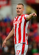 Ryan Shawcross of Stoke city looks on. Premier league match, Stoke City v Arsenal at the Bet365 Stadium in Stoke on Trent, Staffs on Saturday 19th August 2017.<br /> pic by Bradley Collyer, Andrew Orchard sports photography.