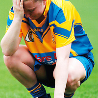 9 September 2007; A dejected Claire Commane after the match. Gala All-Ireland Junior Camogie Final, Clare v Derry, Croke Park, Dublin. Picture credit; Brian Lawless / SPORTSFILE