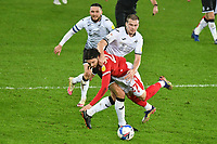 Football - 2020 / 2021 Sky Bet Championship - Swansea City vs Nottingham Forest - Liberty Stadium<br /> <br /> Filip Krovinovic of Nottingham Forest brought down by  Ryan Bennett Swansea who receives a yellow card<br /> <br /> COLORSPORTWINSTON BYNORTH