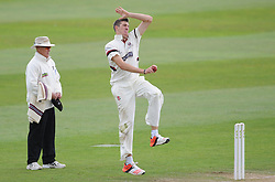 Somerset's Craig Overton bowls.  - Mandatory byline: Alex Davidson/JMP - 07966386802 - 12/09/2015 - CRICKET - The County Ground -Taunton,England - Somerset CCC v Hampshire CCC - Day 4