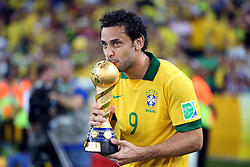 Fred do Brasil na partida contra a Espanha, válida pela final da Confederações 2013, no estádio Maracanã, no Rio de Janeiro. FOTO: Jefferson Bernardes/Preview.com
