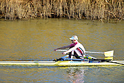 Boston, Great Britain. Women's Single Scull GBR W1X . Victoria THORNLEY,  compete's in the 2013 GBRowing second assessment, Boston Rowing Club, River Witham, Lincolnshire.    Saturday  09/02/2013   [Mandatory Credit. Peter Spurrier/Intersport Images]