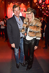 Hugh Morrison and Amanda Wakeley at the Save The Children's Night of Country at The Roundhouse, London England. 2 March 2017.