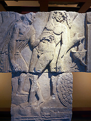 Roman Reliefs from the Rhine area at the Roman-Germanic Museum in Cologne Germany