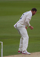 John Hastings (Durham County Cricket Club) celebrates after taking the wicket of Will Smith (Hampshire CCC) during the LV County Championship Div 1 match between Durham County Cricket Club and Hampshire County Cricket Club at the Emirates Durham ICG Ground, Chester-le-Street, United Kingdom on 2 September 2015. Photo by George Ledger.