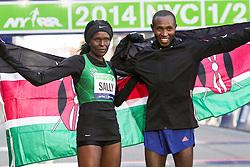 Sally Kipyego and Geoffrey Mutai win