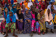 Children from various ethnicities including Tuareg participate in the 4th annual Youth Festival celebrating and promoting educational excellence and culture in Agadez, Niger, in the presence of the mayor of the city, Rhissa Feltou.