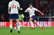 Dael Fry of England U21's on the attack during the U21 International match between England and Germany at the Vitality Stadium, Bournemouth, England on 26 March 2019.