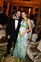 MAX & JANE GOTTSCHALK at The Animal Ball in aid of The Elephant Family held at Lancaster House, London on 9th July 2013.