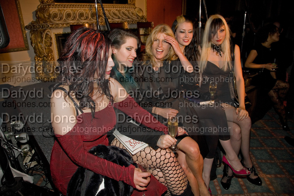 SATANIC SLUTS;  GEORGINA BAILEY; RACHEL JOHNSON; KELLY LYNEE; KATE LOMOX; HAYLEY THOMPSON;  The Literary Review Bad sex in Fiction award 2008. The In and Out Club. 4 St. James Square. London SW1. 25 November 2008. *** Local Caption *** -DO NOT ARCHIVE -Copyright Photograph by Dafydd Jones. 248 Clapham Rd. London SW9 0PZ. Tel 0207 820 0771. www.dafjones.com