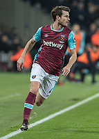 Football - 2016 / 2017 Premier League - West Ham United vs. Manchester United<br /> <br /> Havard Nordtveit of West Ham at The London Stadium.<br /> <br /> COLORSPORT/DANIEL BEARHAM
