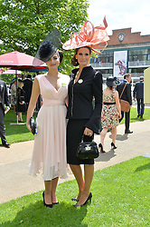 ISABELL KRISTENSEN and her daughter NICHOLA KRISTENSEN at the 1st day of the Royal Ascot Racing Festival 2015 at Ascot Racecourse, Ascot, Berkshire on 16th June 2015.