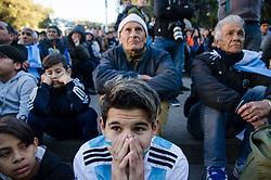 June 21, 2018 - Buenos Aires, Argentina - Fans of Argentina watch the 2018 FIFA World Cup match beween Argentina and Croatia in Buenos Aires, Argentina, on June 21, 2018. (Credit Image: © Manuel Cortina/NurPhoto via ZUMA Press)