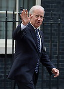 © Licensed to London News Pictures. 05/02/2013. Westminster, UK American Vice President Joe Biden (L) leaves after meetings today 5th February 2013. Photo credit : Stephen Simpson/LNP