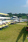 Chungju, South Korea. General Views Boathouse, and other buildings, 2013 FISA World Rowing Championships,  at the Tangeum Lake International Regatta Course. 11:27:45  Saturday  24/08/2013 [Mandatory Credit. Peter Spurrier/Intersport Images]