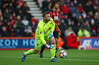 Football - 2017 / 2018 FA Cup - Third Round : AFC Bournemouth vs. Wigan Athletic<br /> <br /> Bournemouth's Artur Boruc rolls the ball out at Dean Court (Vitality Stadium) Bournemouth <br /> <br /> COLORSPORT/SHAUN BOGGUST