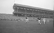 Dublin and Galway players both reach for the ball mid air during the All Ireland Senior Gaelic Football Championship Final Dublin v Galway in Croke Park on the 22nd September 1963. Dublin 1-9 Galway 0-10.