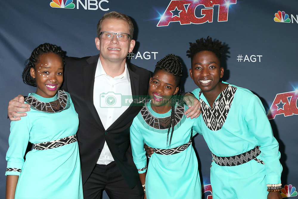 September 3, 2019, Los Angeles, CA, USA: LOS ANGELES - SEP 3:  Ndlovu Youth Choir at the ''America's Got Talent'' Season 14 Live Show Red Carpet at the Dolby Theater on September 3, 2019 in Los Angeles, CA  (Credit Image: © Kathy Hutchins via ZUMA Wire)