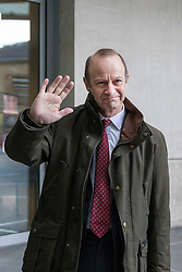 © Licensed to London News Pictures. 11/02/2018. London, UK. UKIP Leader Henry Bolton arrives at BBC Broadcasting House. Photo credit: Rob Pinney/LNP
